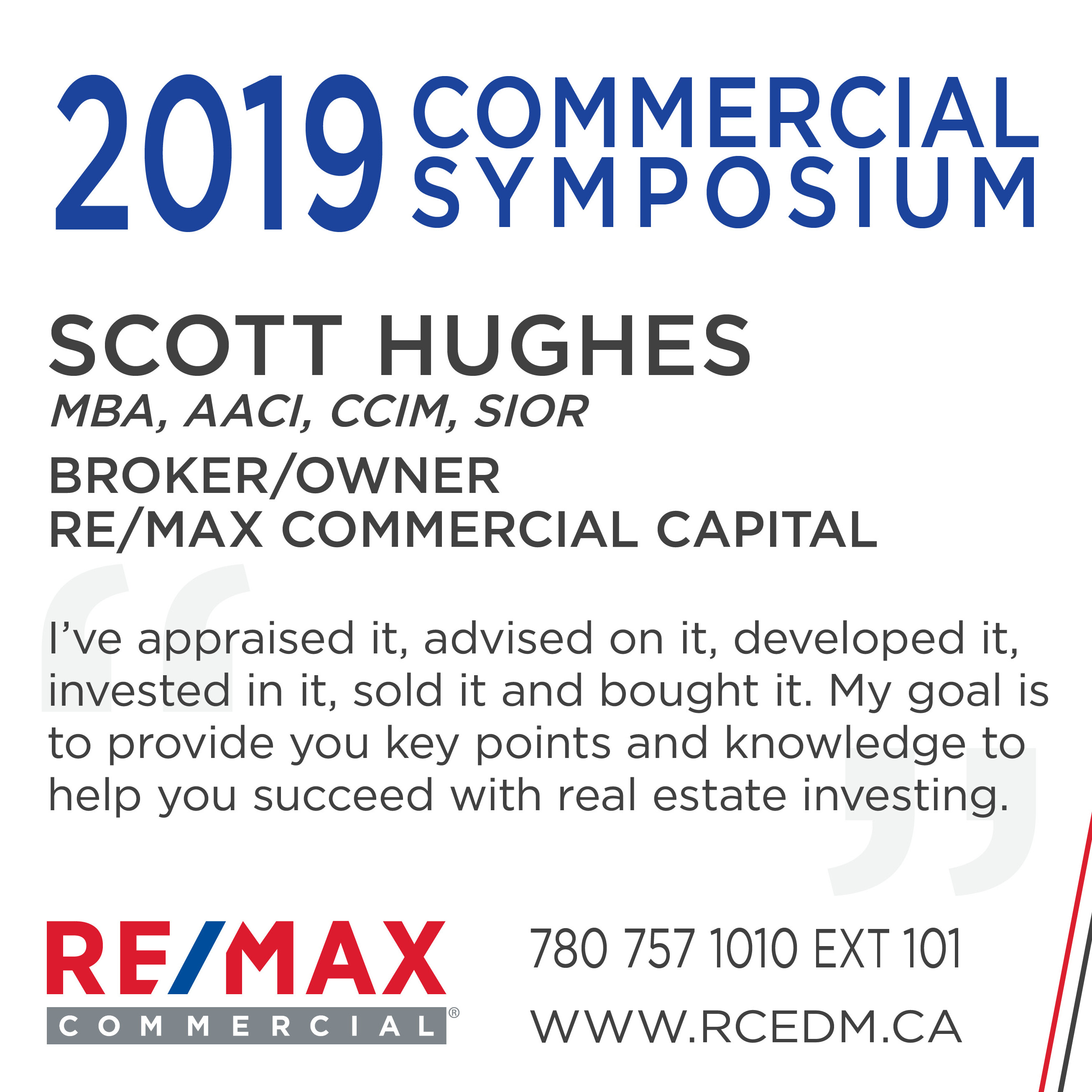 Investing in Real Estate – 2019 RE/MAX Commercial Symposium